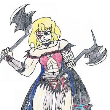 Chloe dressed like Velvett from Berseria