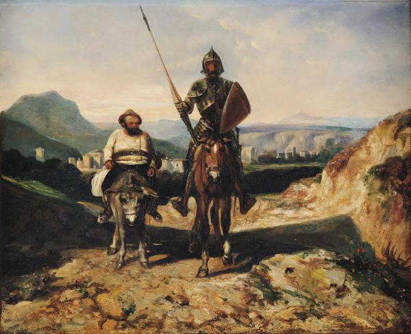 Don-Quixote-and-Sancho-xx-Alexandre-Gabriel-Decamps